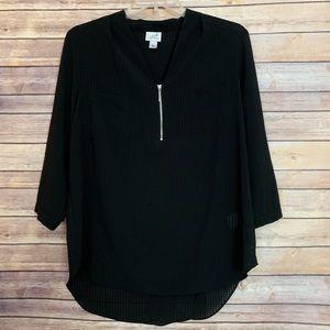 Black gingham blouse Size XL